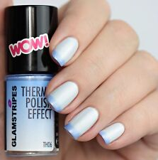 THERMO POLISH EFFECT NAIL COLOR CHANGING - PEARL WHITE TO LIGHT BLUE - NEW 5006