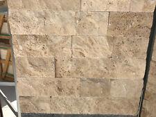 Travertino a spacco in pietra per rivestimento pareti interni / esterni h 10 cm