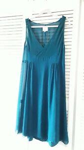 Noa Noa Vielle Tulle Teal Sleeveless Summer Dress, Large, Very Good Condition