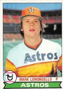 trading card Topps ASTROS 1979 MARK LEMONGELLO  #187