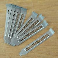(10) Chenbro Vented Computer PC PCI Slot Cover Brackets: Silver