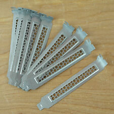 (10) Chenbro Vented Computer PC PCI Slot Cover Brackets: Silver