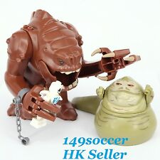 3pcs Star Wars The Hutt Rancor & Jabba minifigures Custom Lego Building Toy
