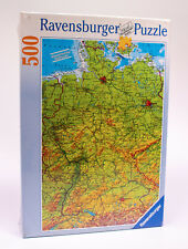 RAVENSBURGER Puzzle Map Of Germany DOUBLE Sided 142064 RARE 500 Pieces SEALED