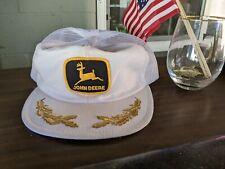 NOS RARE Vintage John Deere Patch Snapback Hat Cap MADE IN USA Louisville Mfg Co