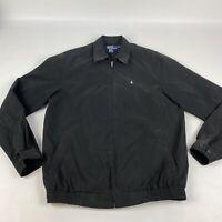 Polo Ralph Lauren Harrington Zip Up Jacket Black Men's LT Large Tall