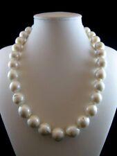 Collana donna lunga Cm.46  Perle Scaramazze Barocche 13/15mm. ,Chiusura Argento