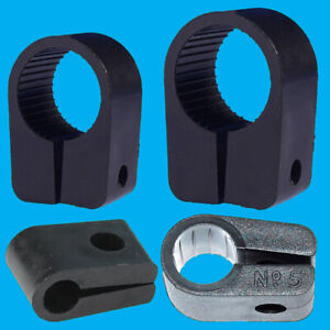 Black Heavy Duty Cable Cleats Clips, Size No. 3, 5, 7 or 9, Pack Sizes 5-50