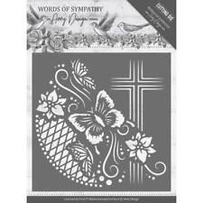 Amy Design Stanzschablone  Words of Sympathy - Cross Frame Rahmen