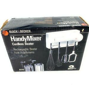 VTG Black&Decker Handy Mixer Cordless Beater Compact #9210 Wall Mountable