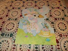 """Vtg Easter Diecut Cardboard Decoration Large 16"""" Bunny Egg Cricket"""