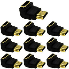 New listing Lot10 Hdmi Elbow,Up/Down Angle 90degree Plug/Male~Female/Jack cable/cord Adapter