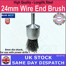 24mm Wire End Brush - Longlife Warranty - Professional Use - High Quality Steel