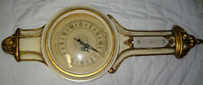 "Vintage Peter F. Bollenbach Co. Chronometre Chronoquartz White & Gold Clock  40"""