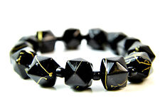 Elegant Black / Yellow Bracelet Brand New Unique Stunning (St42)