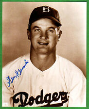 Gene Hermanski,  Signed Photo,  Brooklyn Dodgers