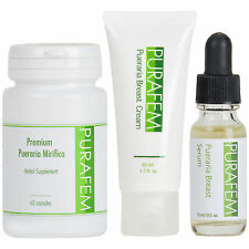 1 x PURAFEM PUERARIA MIRIFICA Extract Breast Care Package Serum, Cream, Capsules