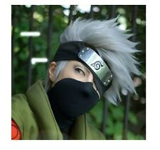 wigs Hot Sell! Kakashi SOUL EATER Anime Silver white Short Cosplay Wig +headband