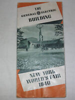 VINTAGE 1940 NEW YORK WORLD'S FAIR   THE GENERAL ELECTRIC BUILDING GE BROCHURE