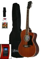 Santander 4/4 Akustik Western Gitarre Set Cutaway Stimmgerät Tonabnehmer, Sapele