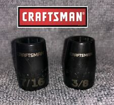 "Craftsman 3/8"" Drive Shallow Impact Socket Set of 2-   3/8"", 7/16"" Fast Shipping"