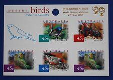 Australia (1995f) 2001 Desert Birds Mnh booklet pane (Philakorea 2002 overprint)