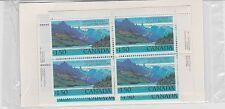 Canada, 1982 Matched Corner Blocks of 4, Waterton Lakes 935 MNH