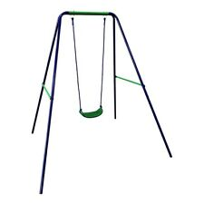 ALEKO Child Toddler Swing Sturdy Outdoor Swing Seat Playground Accessory Blue