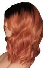 in Stock Remy Human Hair Wig Glueless Full Lace 12 Red 33 Roots Silk Top Moklox