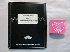 SPECTRAL DYNAMICS SD105A AMPLITUDE SERVO / MONITOR INSTRUCTION MANUAL