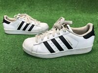 Adidas Originals Superstar Youth White / Black / Gold Sneakers US 4.5 C77154