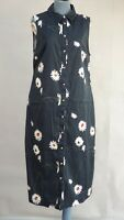 Ted Baker WMD BONINA Navy Shirt Dress Floral Daisy Print Navy size 4 UK 14