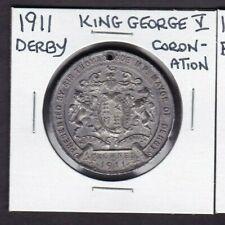 1911 Derby King George V Coronation Medal