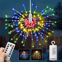 69-240LED Firework Hanging String Fairy Light Christmas Wedding Xmas Garden Deco