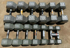 CAP Cast Iron Hex Dumbbells 10 - 75 lbs Lot (Choose Singles or Pairs)