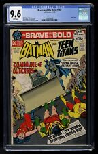 The Brave and the Bold #102 CGC 9.6 WHITE (DC, 1972) Batman & Teen Titans