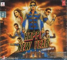 HAPPY NEW YEAR - BOLLYWOOD ORIGINAL SOUNDTRACK CD - FREE POST [SHAH RUKH KHAN]