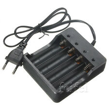 New 4 Slots Smart Battery Charger for 18650 Rechargeable Li-Ion Battery EU Plug