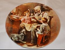 "! New! 1977 Norman Rockwell's ""The Toy Maker"" collector plate ( 9,Pl2)"