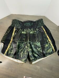 Venum Thai Shorts Size L Campo Green Gold Black New Without Tags