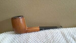 Vintage Longchamp Leather Wrapped Tobacco Smoking Pipe-France