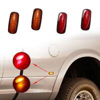4* Amber/Red Lens 3 LED Side Fender Marker Lights FOR 03-17 DODGE RAM 2500 3500