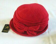 Hawkins Flower Cloche Hat 90% Wool 1920s 30s Downton Abbey Style Winter Ladies