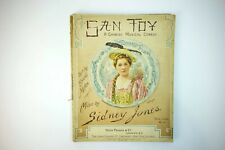 San Toy A Chinese Musical Comedy JONES Sidney 1899 1st Ed