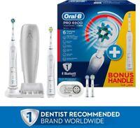 Oral-B Genius 6900 Electric Toothbrush Powered by Braun-6000 x 2 BLUETOOTH