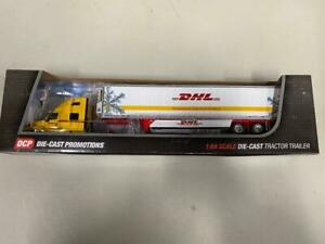 "DCP 34207 ""DHL"" IH LT w/Tri-Axle Reefer Van 1:64 Die-cast Promotions First Gear"