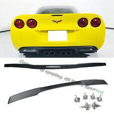 Fit 05-13 Chevy Corvette C6 ZR1 ABS Black Rear Trunk Lip Spoiler W/ Hardware