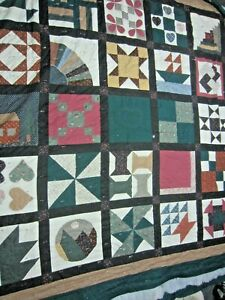 California King Size - UNFINISHED- Block Quilt - Quilt of the Month - 106 x 109