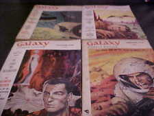 set of 4 Galaxy Science Fiction pulps 1956 57 The Stars My Destination Bester