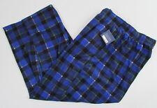 Mens Pajama Pants Size 3XLT Lounge Wear Croft and Barrow Microfleece Blue Plaid